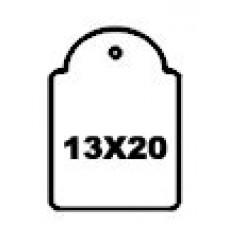 Hangetiket met koord 13x20mm 1000st Td35251320